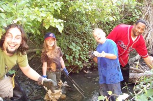 We preserve, enhance, and create ecologically important areas at the annual creek clean-up and planting days.